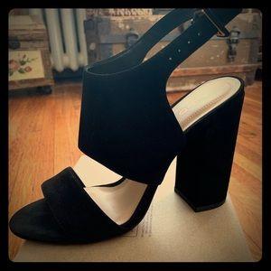 8.5 Aldo Black Suede Heels